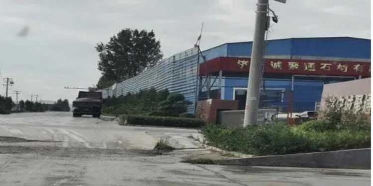 山东一石材厂停产整顿期间违规生产!存在很大安全隐患!