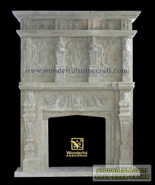 多层雕画壁炉