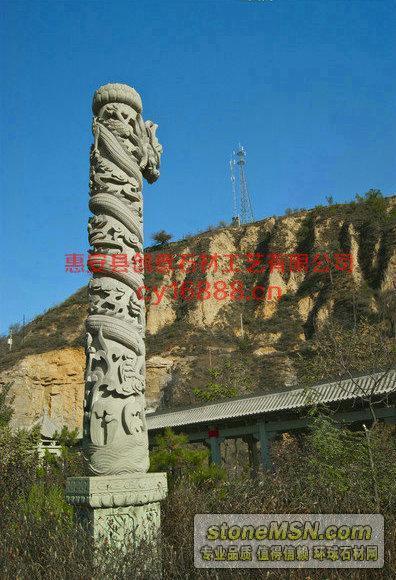 寺廟龍柱,青石龍柱,石龍柱生產廠家