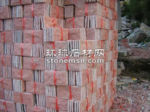 桃红玉文化石蘑菇石