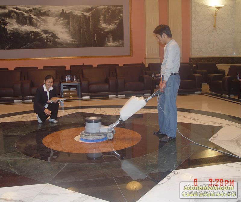 北京達園賓館大理石地面翻新