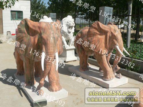 大象雕塑、大象石雕