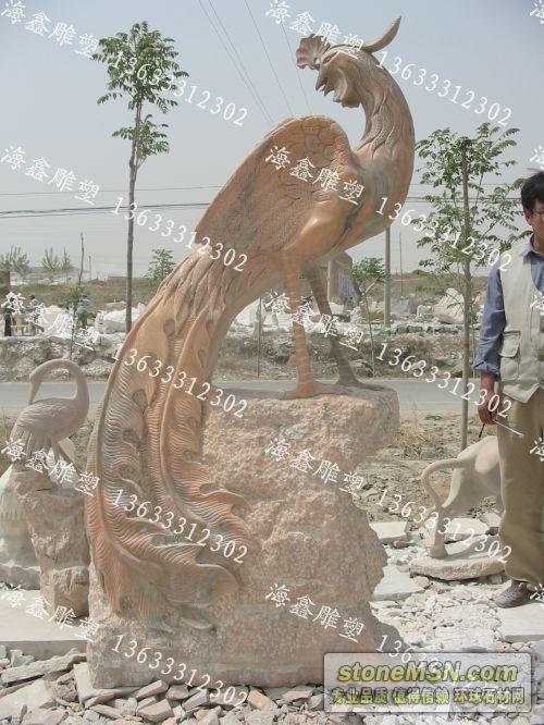 凤凰雕塑,动物雕塑图片