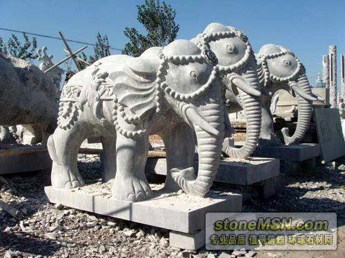 石雕大象,青石大象,汉白玉大象