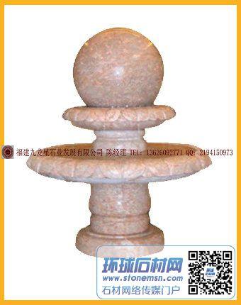 石雕风水球 大型喷泉 流水摆件 时来运转 风水球