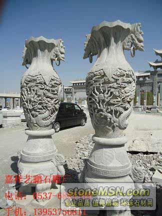 石雕宝瓶,石雕花瓶,园林石雕,石雕花瓶价格,石雕花瓶图片