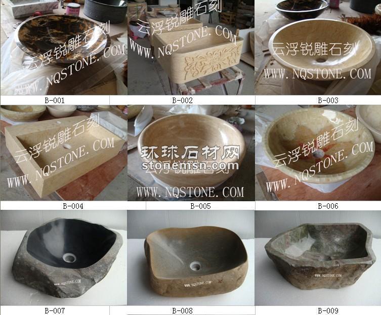 石材艺术洗手盆、浴缸STONE BASIN AND TUB