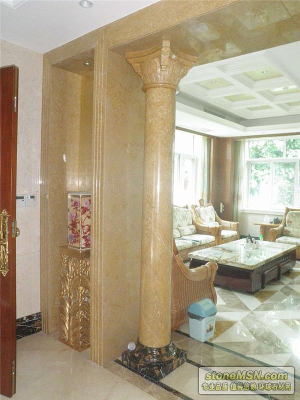 别墅室内石材圆柱