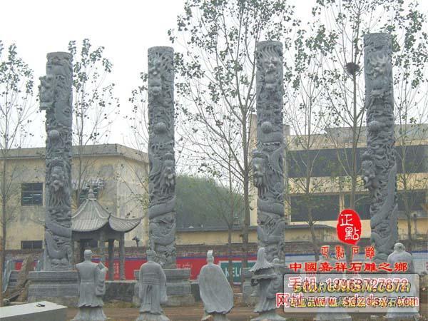 石雕龍柱,盤龍柱,文化柱,圖騰柱,十二生肖柱,羅馬柱,廣場柱