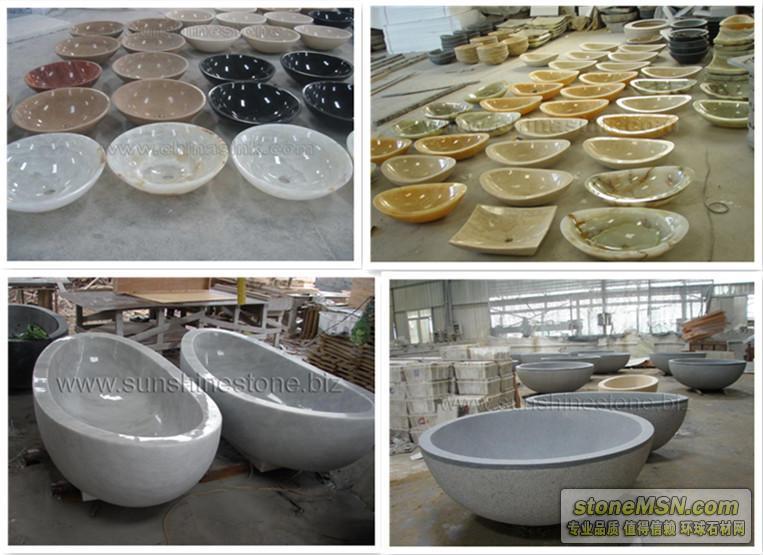 供應大理石、花崗巖、玉石石材洗手盆、浴缸、洗菜池等產品