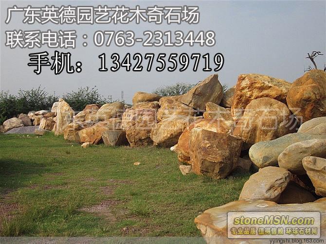 直銷天然黃蠟石 景觀石