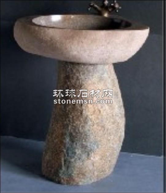 洗手盆、自然石洗手盆、鹅卵石洗手盆、石头洗手盆