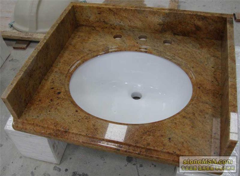 黄金沙浴室台面板
