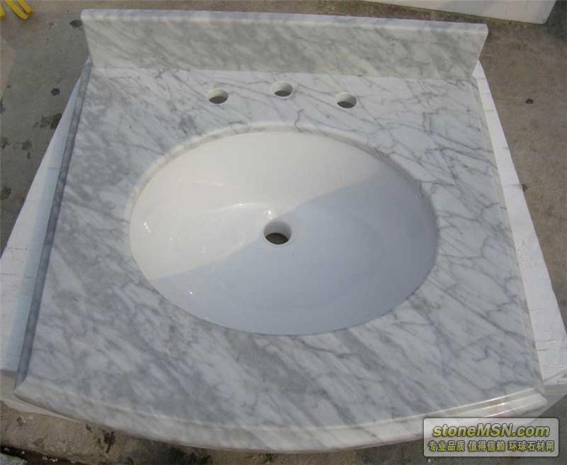 卡拉拉白大理石浴室台面板