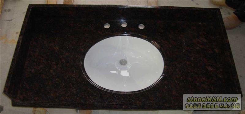墨绿麻浴室台面板