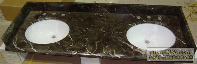 深灰网浴室台面板