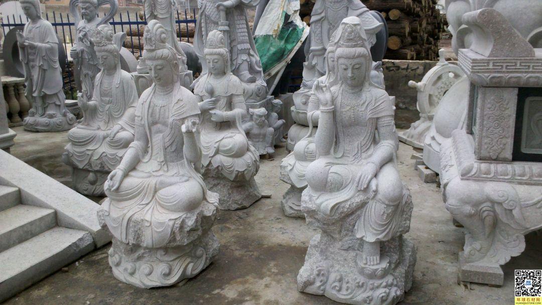 各种石雕观音形态