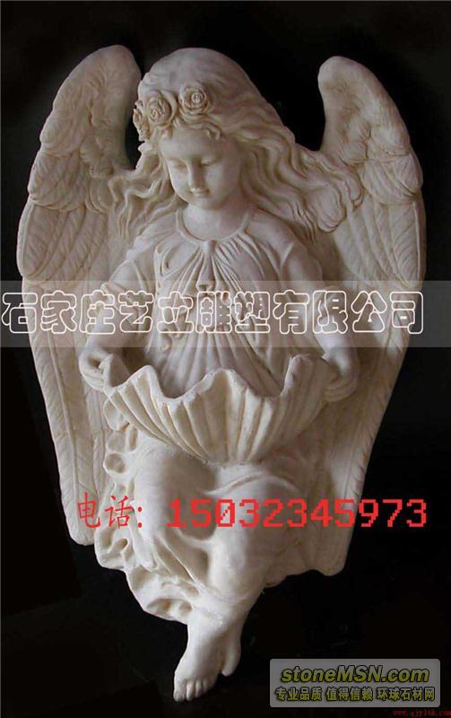大理石小天使雕像