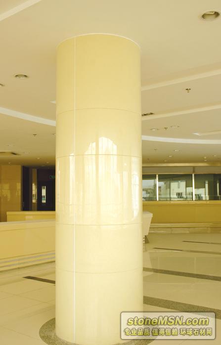 米黄微晶石圆柱
